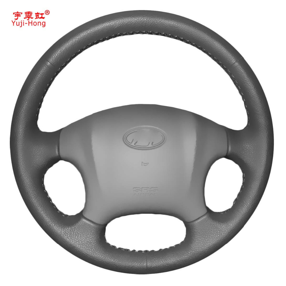 Yuji-Hong Artificial Leather Car Steering Wheel Covers Case for Hyundai Tucson 2006-2013 Hand-stitched Cover