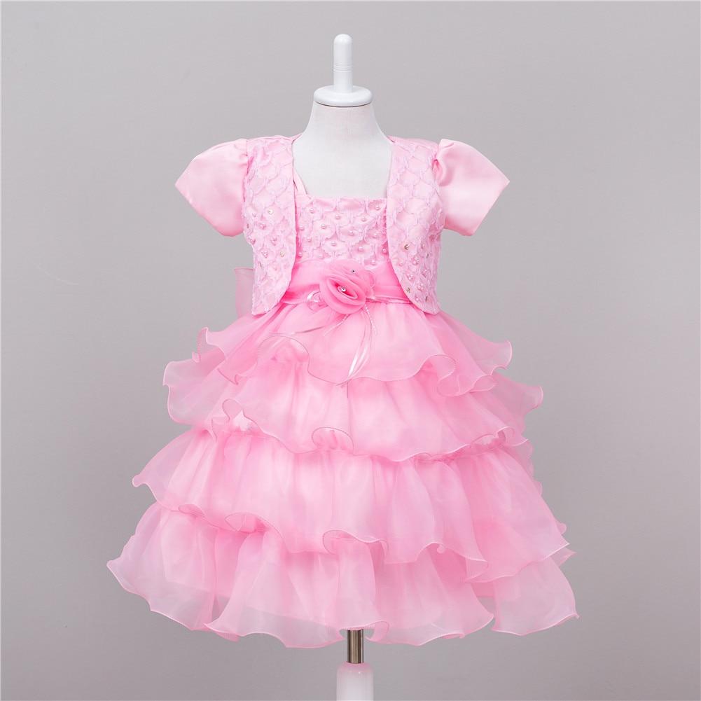 Kids Formal Short Sleeve White Coral Blue Beige  Pageant Evening Dress Evening Child Girls Pink Flower Girl Dress Princess lole шорты lsw0898 lively short xs evening blue