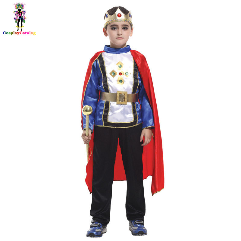 Boys Deluxe Royal Storybook Noble King Costume Kids Prince Halloween Party Costumes Masquerade Camouflage Children Uniforms