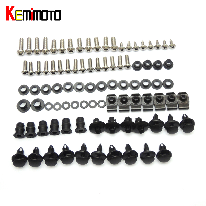 KEMiMOTO Motorcycle Fairing Bolt Screw Nuts Washers Fastener Fixation for SUZUKI GSX-R1000 2005 2006 Full Kit