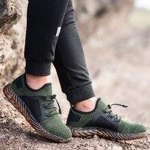 купить!  Adisputent Мужчины Steel Toe Work Safety Shoes Спортивные Повседневные Кроссовки Нескользящие Удобна