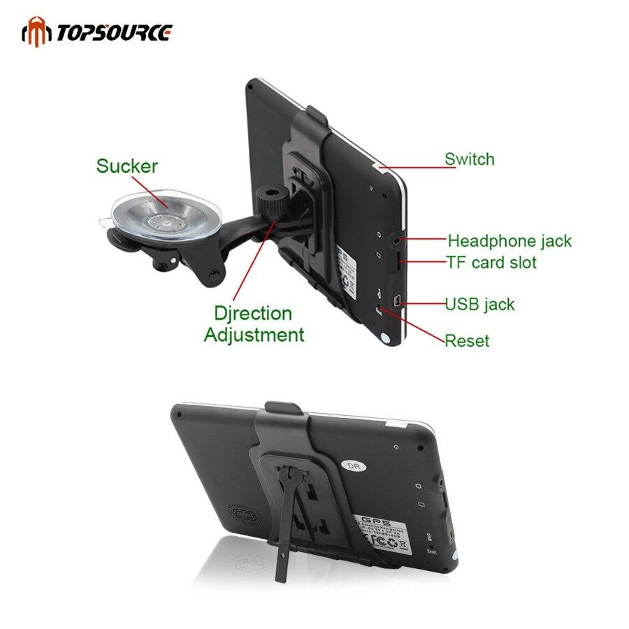 TOPSOURCE 5 «7» 256M 8G hd автокөлік GPS - Автомобиль электроникасы - фото 4