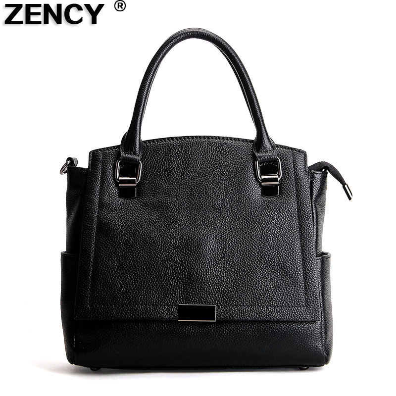 Free Shipping 2017 ZENCY Brand Fashion 100% Genuine Real Leather Tote Bags Cowhide Women Handbag Messenger Casual Shoulder Bag 2017 new crocodile handbag shengdilu brand women genuine leather tote shoulder messenger bag free shipping