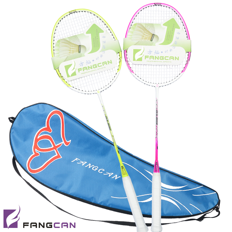 2pcs FANGCAN Our Home Badminton Racket for Lovers Carbon Aluminum Alloy Couple Sets for Beginners With string and Cover