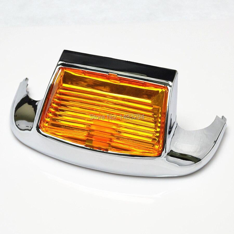Светодиодный фонарь для передних крыльев Янтарный объектив, светильник дополнительные фары дальнего света светильник подходит для Harley ...