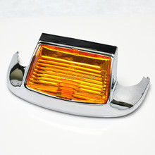 Amber Lens LED Front Fender Tip Light Auxiliary Driving Light Fits For Harley Touring Electra Glide FLHT/FLT/FLHS Motorcycles