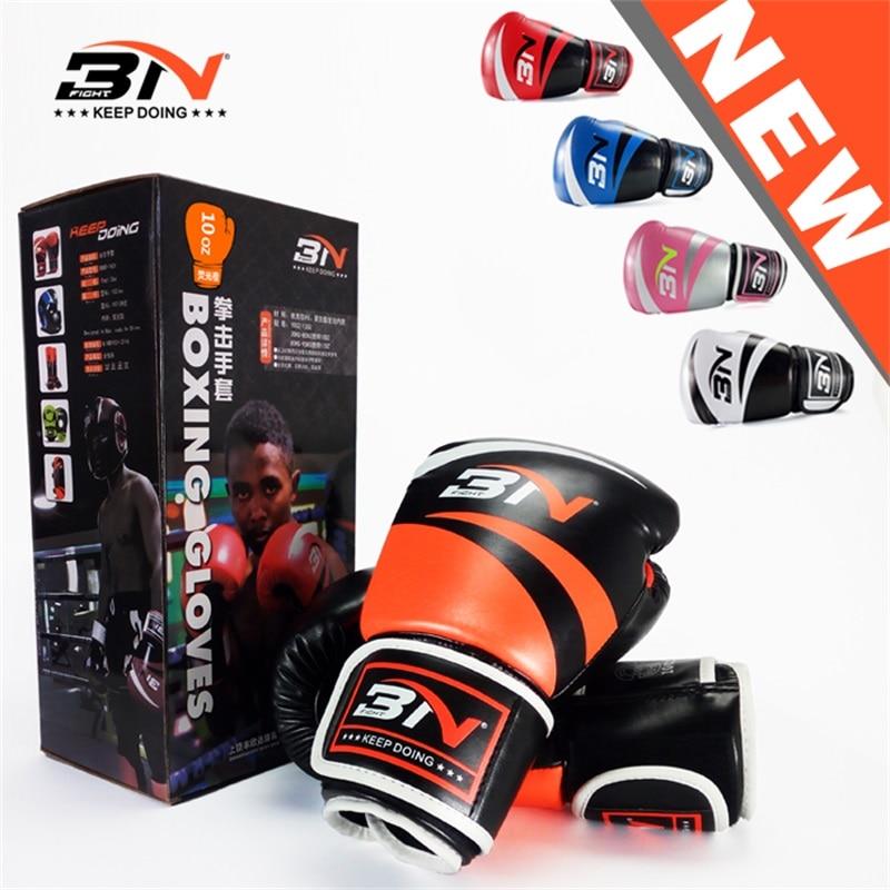 8/10 / 12oz boxhandskar PU läder kickBoxing MMA Gear Taekwondo kamp - Sportkläder och accessoarer