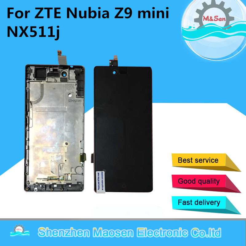 M Sen For ZTE Nubia Z9 mini NX511j LCD screen display touch panel digitizer with frame