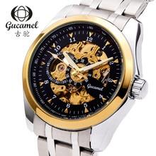 Gucamel Люксовый Бренд Большой циферблат диаметром 44 мм полые автоматические механические часы бизнес-часы