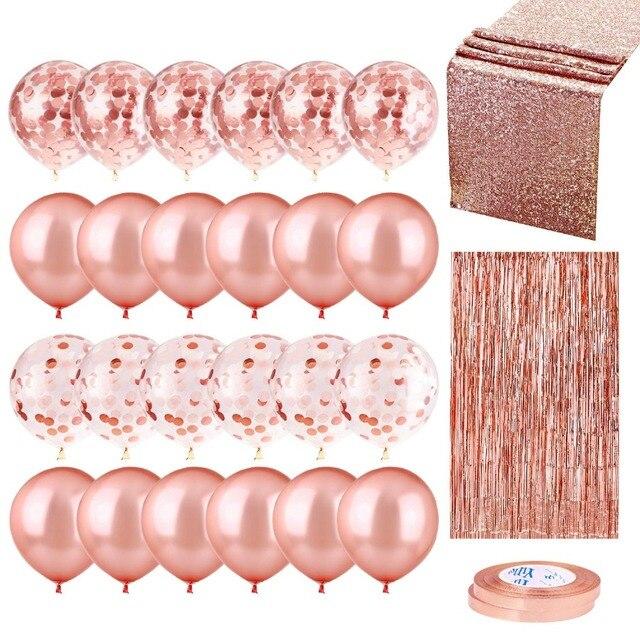 20 Viên Mix Hoa Hồng Vàng Bóng Confetti Ballon Viền Trái Tim Sinh Nhật Cưới Trang Trí Balo Tặng Cho Bé Cô Dâu Sữa Tắm