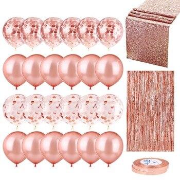 20 шт микс шар цвета розового золота конфетти шар из фольги сердце День рождения Свадебные шары для украшения подарок детский душ свадебный душ