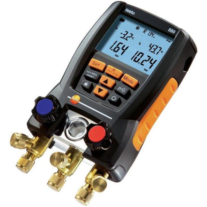 Numérique Collecteur Kit Testo 550 0563 1550 avec 2 pcs Pince Sondes De Réfrigération Électronique Mètres Réfrigérant Ensemble
