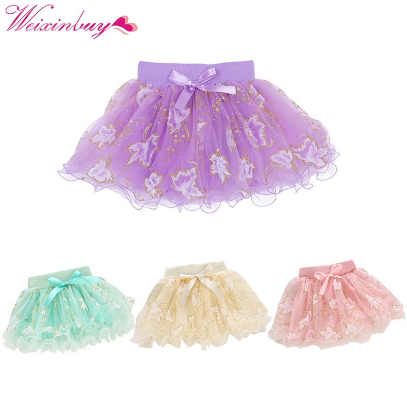 Cute Summer Baby Kids Girls Floral Bowknot Princess Skirt Party Tutu Skirt 1-4Y Hot Sale Party Flower Skirts