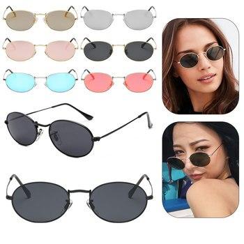 Small Round Sunglasses Women Retro Red Eyewear Vintage Glasses Metal Mirror Points Gold Pink Sun Female 006