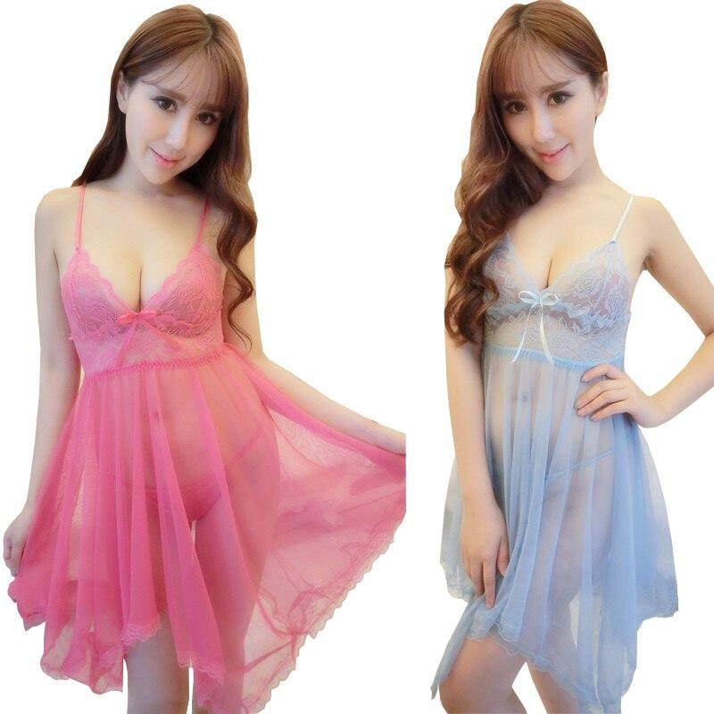 796505c9f9 Women Nightgowns Sleepshirts Ladies Sexy Night Dress Sleeveless Nighties V-neck  Girl Summer Nightdress Lace Sleepwear Nightwear