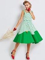 Sisjuly Summer Women Polka Dot Pattern Midi Dress Elegant Vintage Casual A Line Party Dresses Women