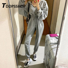 2019 Spring Casual Black White Grey Color Women Jumpsuit Do Exercise Elastic Wai