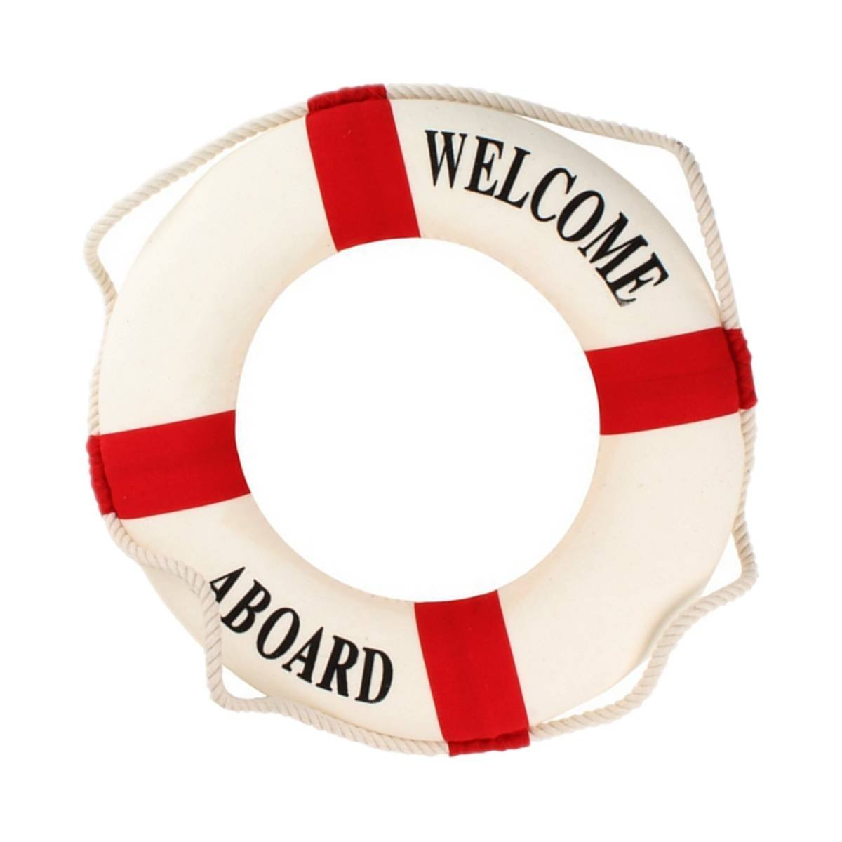 Welcome Aboard Foam Nautical Life Lifebuoy Ring Boat Wall Hanging Home Decoration Red 50cm