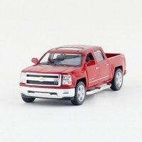 Children Kinsmart 2014 Chevrolet Silverado Model Car 1 46 KT5381 5inch Diecast Metal Alloy Cars Toy
