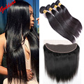 8A Straight Indian Virgin Hair With Closure 4 Bundles Straight Hair With Closure Raw Indian Hair Straight Virgin Human Hair