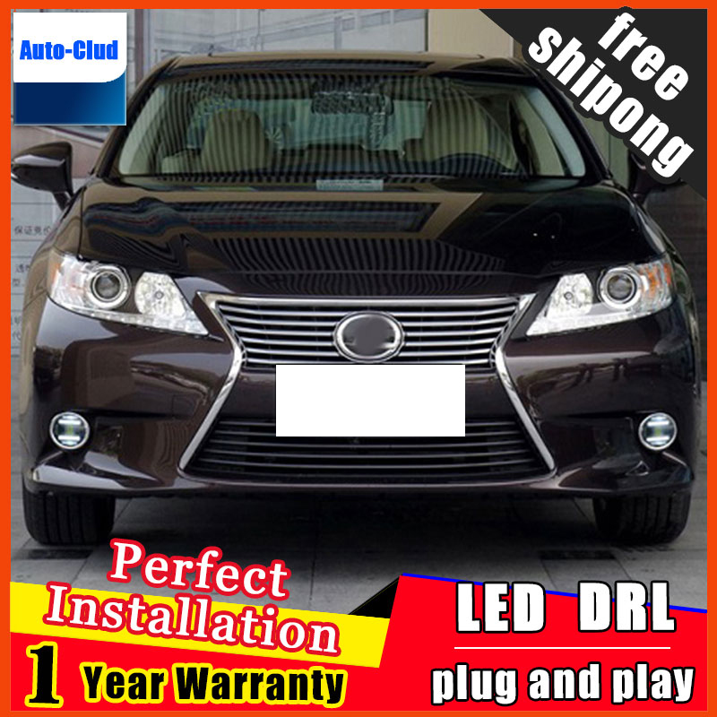 Car-styling LED fog light for Lexus CT200h 2012-2015 LED Fog lamp with lens and LED daytime running ligh for car 2 function