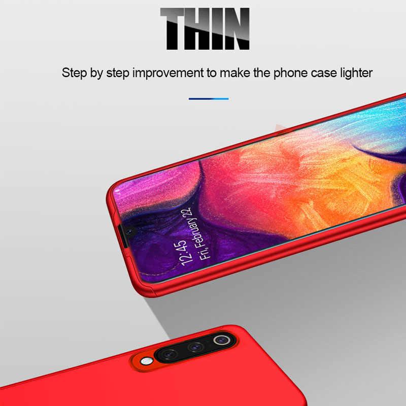 Mewah 360 Full Cover Case untuk Samsung Galaxy A50 A70 A40 A30 A10 M10 Case untuk Samsung S8 S9 PLUS s10 Lite Note 8 9 A7 2018 A5