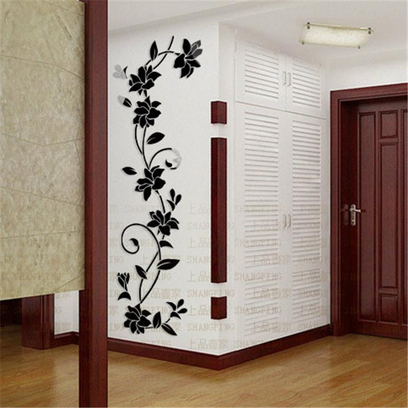 rosas flor de la vid del vestbulo de entrada de tv teln de fondo adhesivo moderno