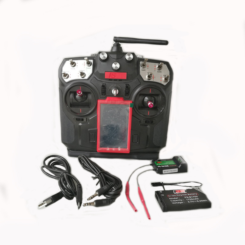 JMT Flysky FS-I8 2.4G 8CH RC Transmitter TX +i8 IA6B / IA10B RX for Helicopter Fixed-wing Glider