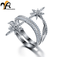 YA YIN YOU PIN S925 Pure Silver Finger Open Rings Personality Style For Party Birthday Giftwedding