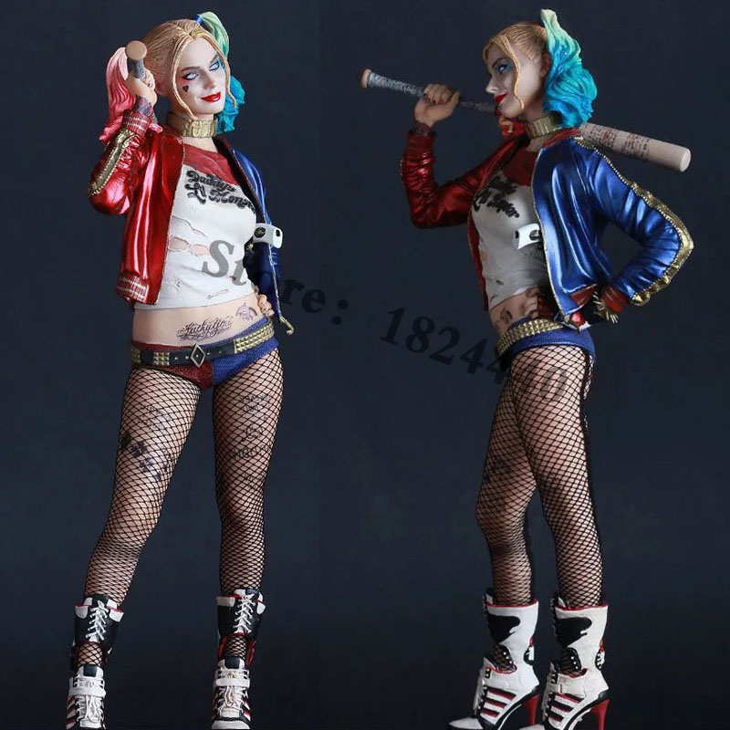 12 30cm Crazy Toys Suicide Squad Joker Harley Quinn Scale Collectible Figure Model Toy Gift Harleen Batman Deadshot Venom 5 loz mini blocks bloques harley quinn figure action harleen quinzel suicide squad joker girls brick heads diy dolls building 1426