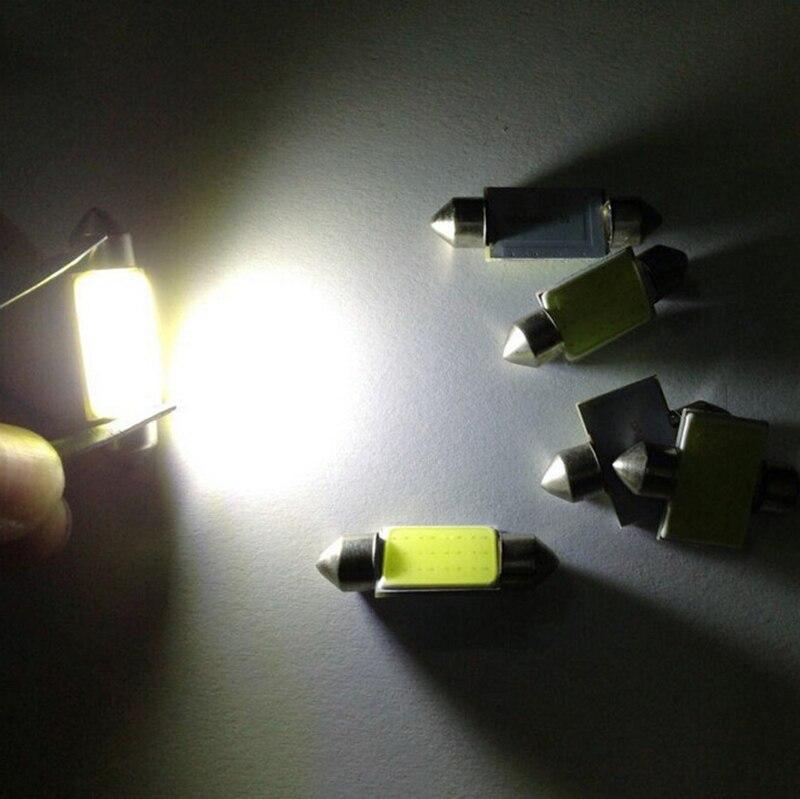 2x COB 31 мм 36 мм 39 мм 42 мм Светодиодные лампы C5W c10w 12 фишек C5W DC12V белый Цвет автомобилей плафон авто Интерьер лампы DC12V стайлинга автомобилей