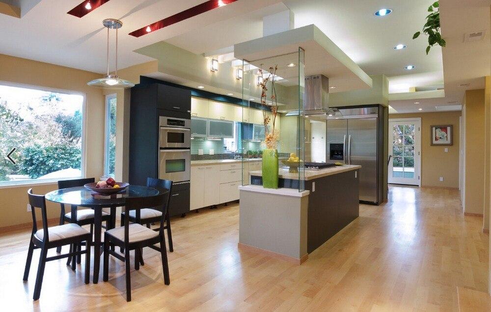 US $2400.0 |2019 vendite calde 2PAC mobili da cucina di colore bianco  moderna high gloss lacquer cucina mobili con dell\'isola L1606065-in  Accessori e ...