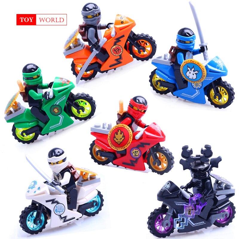 Heißer Ninja Motorrad Bausteine Ziegel spielzeug Kompatibel legoINGly Ninjagoed Ninja für kinder geschenke Carmadon Kai Jay Zane Cole