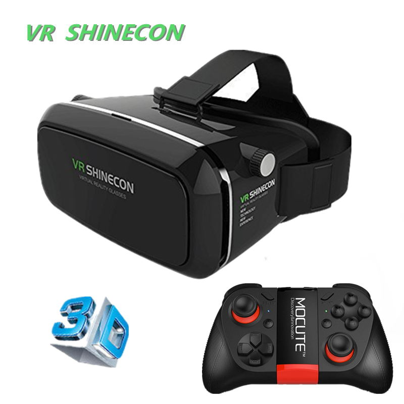 VR Shinecon Virtual Reality 3D Glasses google cardboard 2.0 Pro Version VR Glasses VR BOX 2.0 Movie For 4.5-6.0 Smartphone