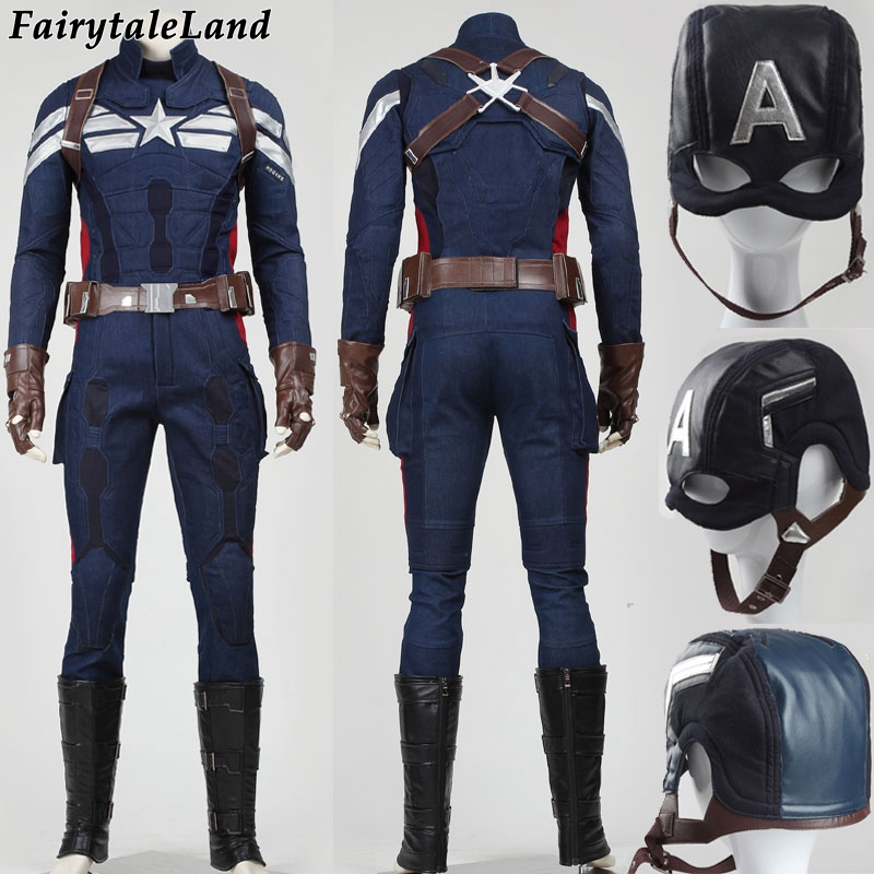 Halloween costumes adult Captain America 2 the winter soldier Cosplay Costume superhero captain america costume adult
