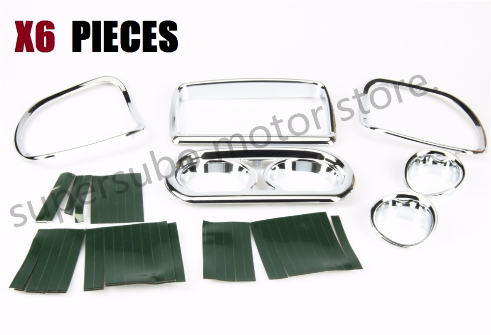 Motorcycle Chromed Inner Fairing Speedometer Radio Speaker Trim set For Harley Road Glide FLTRU FLTRXS 2015-2017