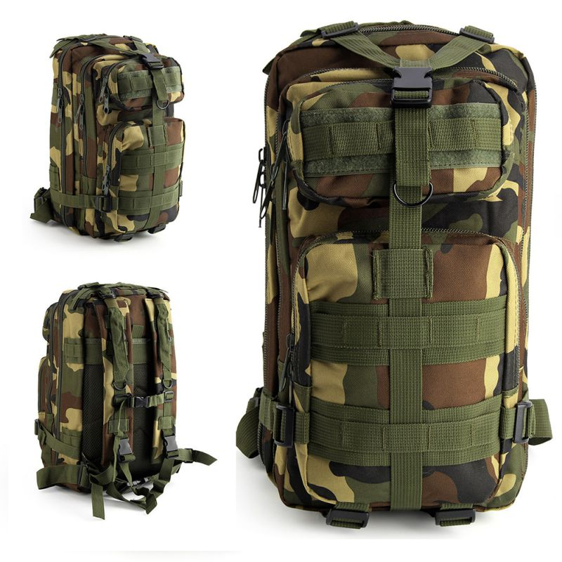 7e99be22780 Hiking Camping Mil-Tec Military Army Patrol MOLLE Assault Pack Tactical  Combat Rucksack Backpack Bag