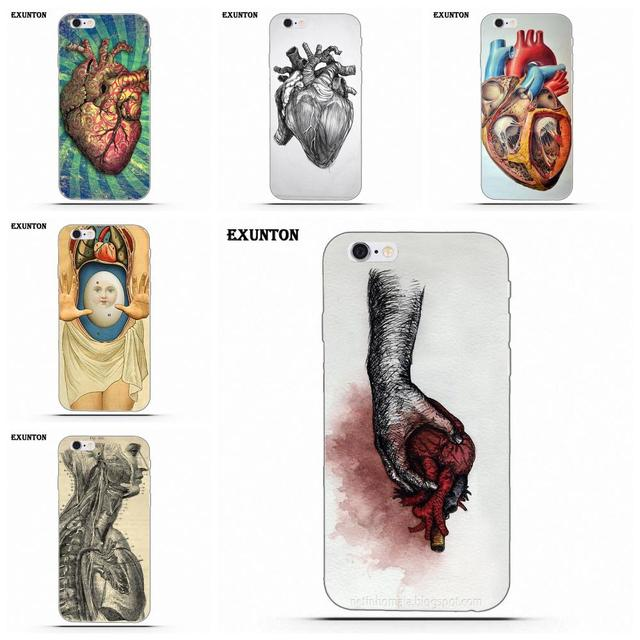 Exunton Vintage Medical Anatomical Heart Diagram For Apple iPhone 4