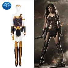 ワンダーウーマンの衣装ダイアナ王女のコスプレ衣装女性スーパーヒーローハロウィンワンダーウーマンの衣装の女性のカスタムメイド