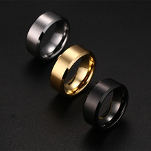 8mm Stainless Steel Rings For Men High Quality Wedding Ring Fashion Jewelry 3 colors y4