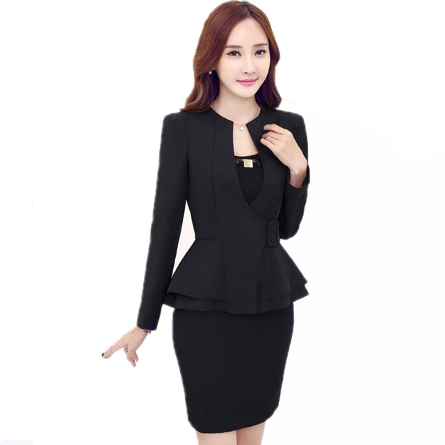 New Uniform Style Professional Women Suits Office Business Yellow