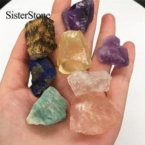 Image 3 - Pierres précieuses brutes en cristal quartz naturel 8 pièces, et minéraux de guérison, pierres brutes comme cadeau
