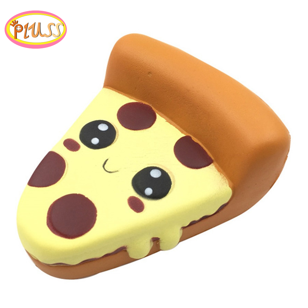 Kawaii Emoji Pizza Slow Rising Kids Toys Squishy Funny Cartoon PU Foam Suqishies 2019 Hot Selling Party Squishi Gift