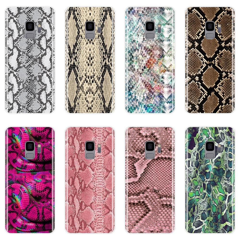 TPU Luxury Snake Skin Back Cover For <font><b>Samsung</b></font> Galaxy S5 <font><b>S6</b></font> S7 Edge S8 S9 Plus <font><b>Soft</b></font> Silicone Phone <font><b>Case</b></font> For <font><b>Samsung</b></font> Note 4 5 8 9 image
