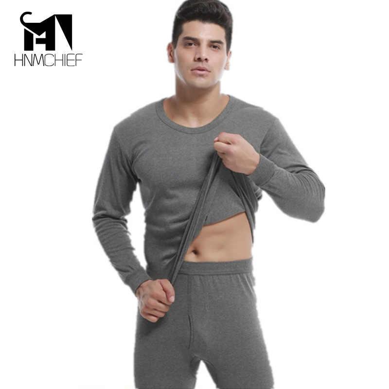 Ropa de marca ropa interior térmica hombre gran oferta conjuntos de ropa interior térmica invierno otoño ropa interior cálida para hombre agregar lana Calzoncillos largos