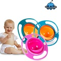 Розничная Детские Кормовая Посуда Милые Игрушки Детские Гироскоп Bowl Универсальный 360 Поворот Влагозащищенная Блюда Детская Посуда