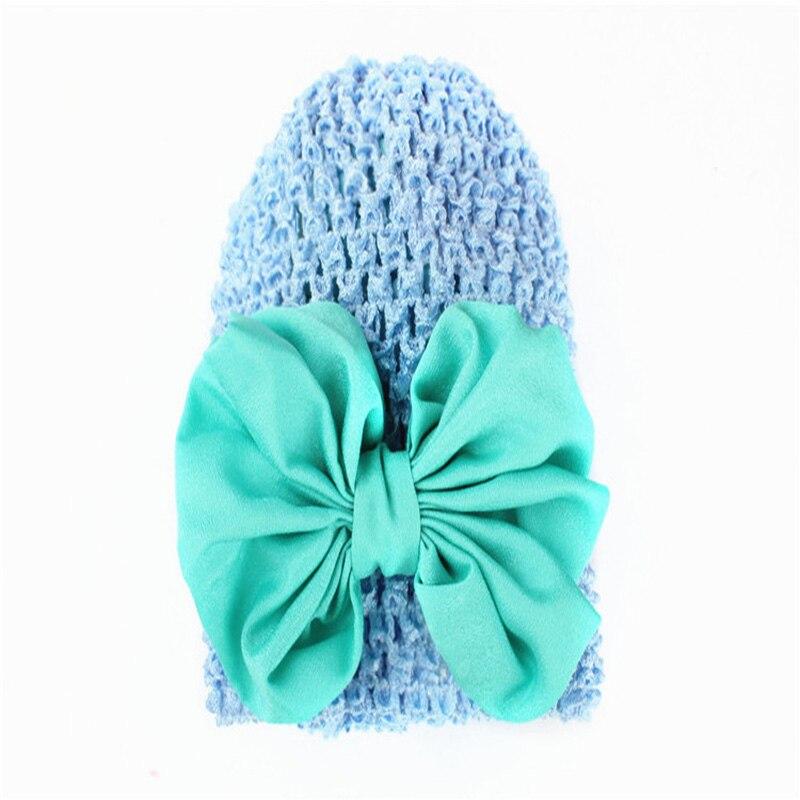 ZSJLYLY брендовые Милые трикотажные ребенок шляпа розовая эластичность детская шапка для девочек большой бантом шляпа сезон: весна–лето дети ...