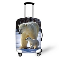 Animal polar bear luggage protector cover suitcases covers Waterproof luggage covers accessory bags travel trolley case cover