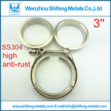 3.0 inch Stainless steel 304 Exhaust V Band Clamp Flange Kit with Male Female flanges kit