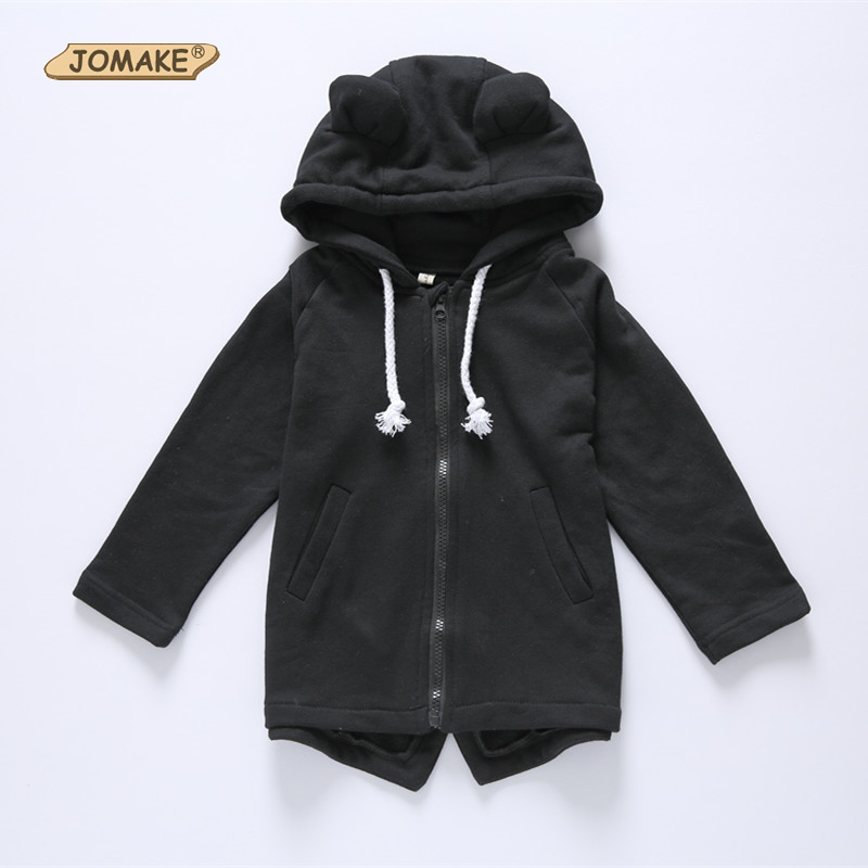 Jomake удобные Пальто с капюшоном для маленьких мальчиков детские Обувь для девочек Куртка-кардиган детская одежда с длинными рукавами Милый ...